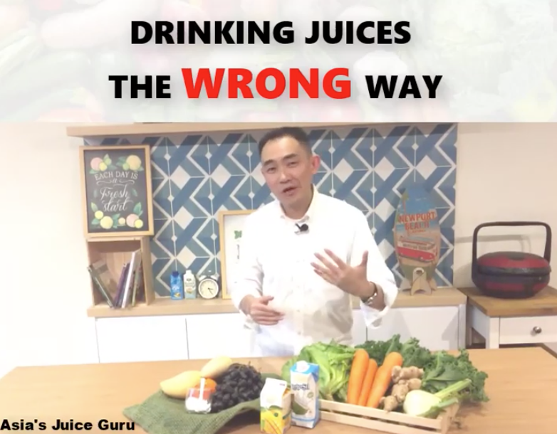 Drinking Juices Wrong Way